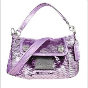 Coach Poppy Purple Sequin Purse